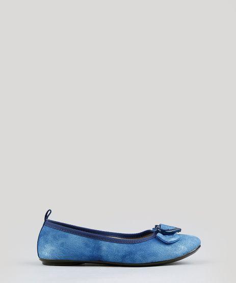 Sapatilha-Infantil-Molekinha-Jeans-com-Fivela-de-Coracao-e-Laco-Azul-9352357-Azul_1