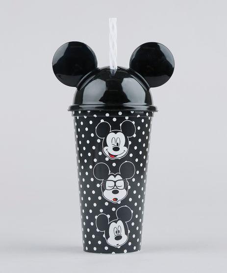 Copo-com-Canudo-Mickey-Estampado-de-Poa-com-Orelhas-Preto-9358657-Preto_1