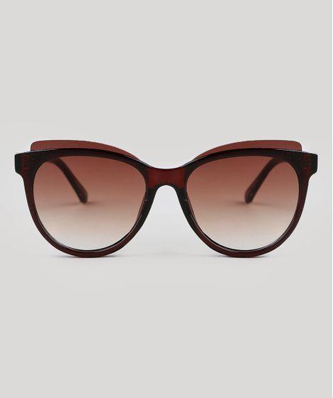 Oculos-de-Sol-Redondo-Feminino-Oneself-Marrom-9351191- ... 8efb1f7aca