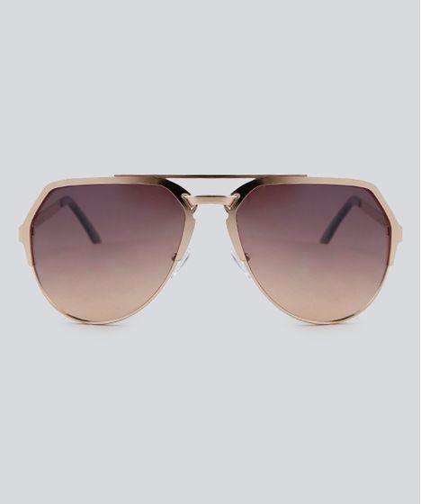 932b729f4e72c Oculos-de-Sol-Aviador-Feminino-Oneself-Dourado-9392461- ...
