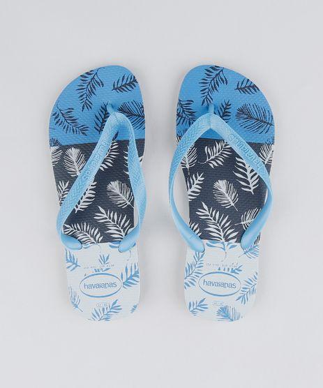 Chinelo-Havaianas-Masculino-Estampado-de-Folhagens-Azul-9330057-Azul_1