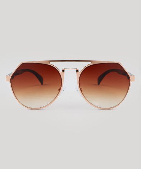 Oculos-de-Sol-Redondo-Feminino-Oneself-Dourado-9392443- e5d1e8e6b5
