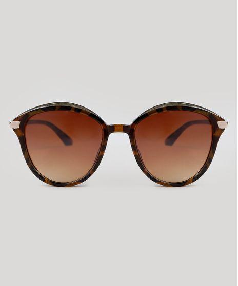 Oculos-de-Sol-Redondo-Feminino-Oneself-Tartaruga-9392440-Tartaruga_1