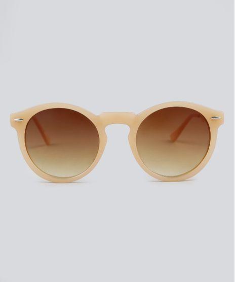 Oculos-de-Sol-Redondo-Feminino-Oneself-Bege-9392473-Bege_1