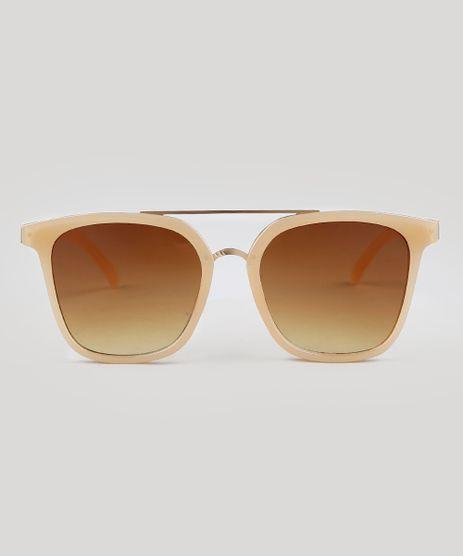 a95f0687d Oculos-de-Sol-Quadrado-Feminino-Oneself-Bege-9392476-
