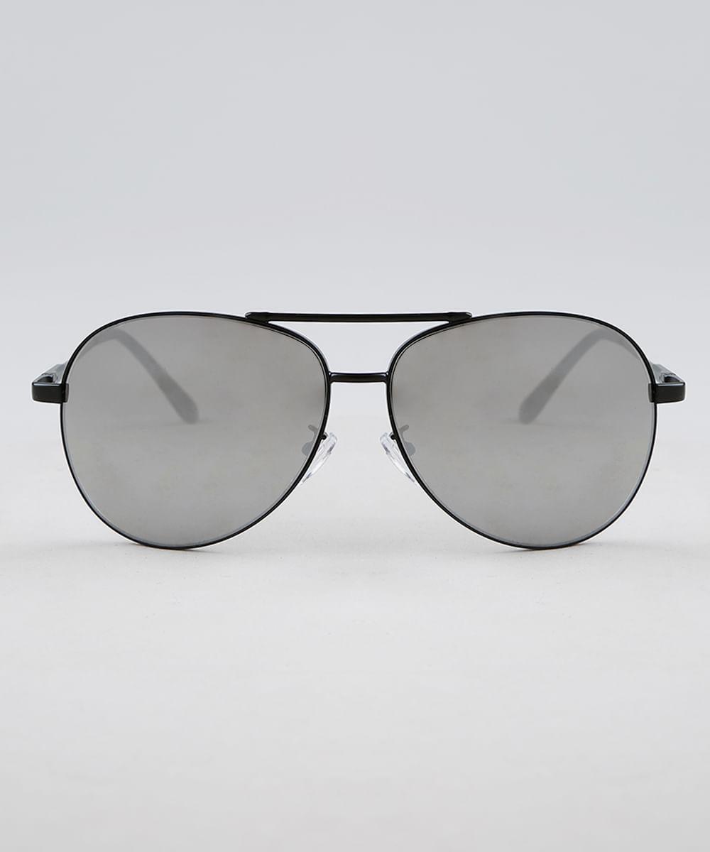 1df0f6df6c67f Óculos de Sol Aviador Feminino Oneself Preto - ceacollections