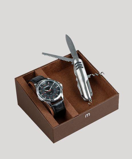 Kit-de-Relogio-Analogico-Mondaine-Masculino---Canivete---83374G0MVNH1KB-Preto-9377637-Preto_1