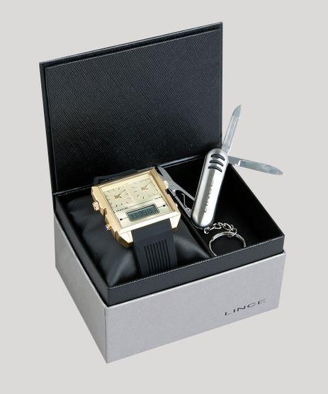 Kit-de-Relogio-Analogico-Lince-Masculino---Chaveiro-Canivete---KD42C1PX-Dourado-9396603-Dourado_1