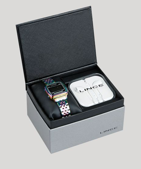 Kit-de-Relogio-Digital-Lince-Masculino-Iridescente---Fone-de-Ouvido---SDPH086L-KD81PXQX-Prateado-9373720-Prateado_1