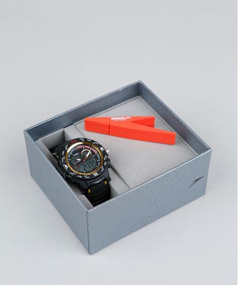 2a1f47aaf6f Kit de Relógio Digital Speedo Masculino + Pen Drive - 81186G0EVNP2K ...