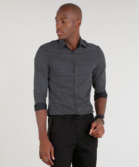 Camisa-Masculina-Slim-Estampada-Manga-Longa-Preta-9089566-Preto_1