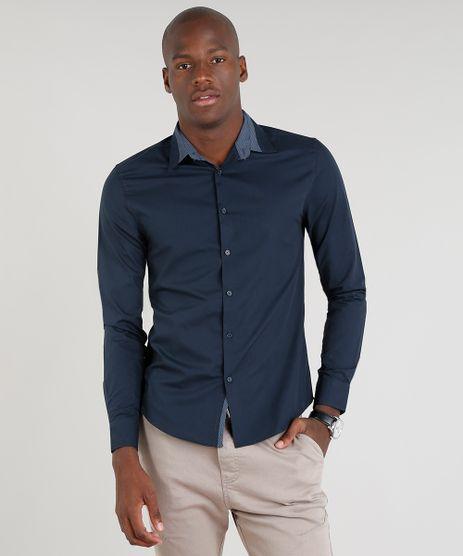 Camisa-Masculina-Slim-Manga-Longa-Azul-Marinho-9221102-Azul_Marinho_1