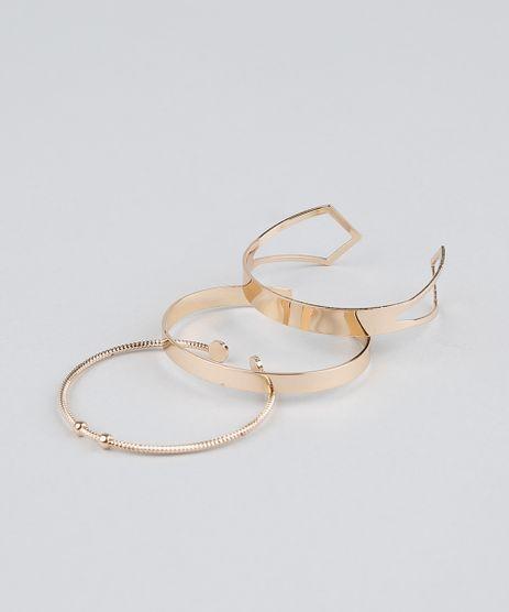 Kit-de-3-Braceletes-Femininos-Dourado-9261714-Dourado_1