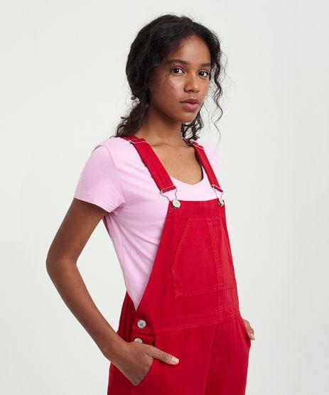 T-Shirt-Feminina-Viscose-Manga-Curta-Decote-Redondo-Lilas-9302884-Lilas_1