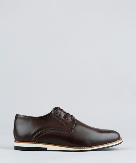 41d3f455c Sapato Masculino com Cadarço Marrom | Menor preço com cupom