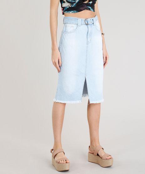 Saia-Jeans-Feminina-Midi-com-Cinto-Delave-9358418-Delave_1