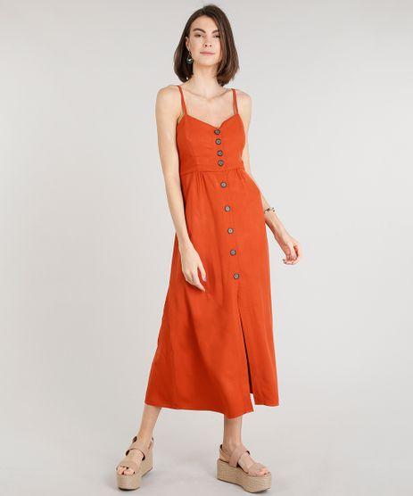 Vestido-Feminino-Midi-com-Botoes-Cobre-9337584-Cobre_1