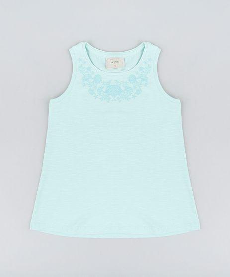 Regata-Infantil-com-Estampa-Floral-Decote-Redondo-Verde-Claro-9323098-Verde_Claro_1