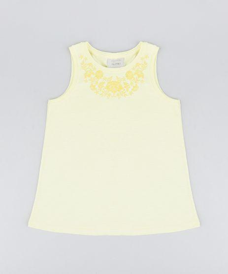 Regata-Infantil-com-Estampa-Floral-Decote-Redondo-Amarelo-Claro-9323101-Amarelo_Claro_1