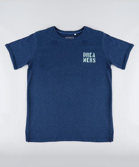 Camiseta-Infantil--Dreamers--Manga-Curta-Gola-Careca-Azul-Marinho-9272991-Azul_Marinho_1