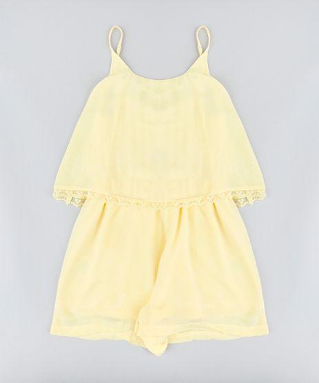 Macaquinho-Infantil-com-Sobreposicao-Alcas-Finas-Decote-Redondo-Amarelo-9182805-Amarelo_1
