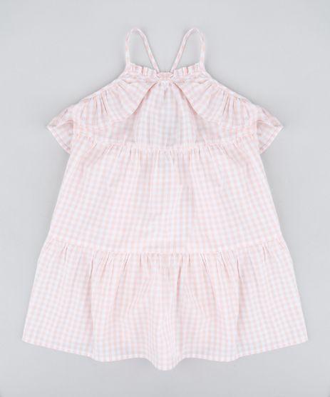 Vestido-Infantil-Estampado-Xadrez-Vichy-com-Babados-Rose-9182781-Rose_1