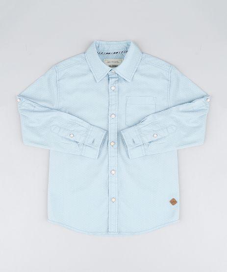 Camisa-Infantil-com-Bolso-Estampada-de-Poa-Manga-Longa-Azul-Claro-9201657-Azul_Claro_1