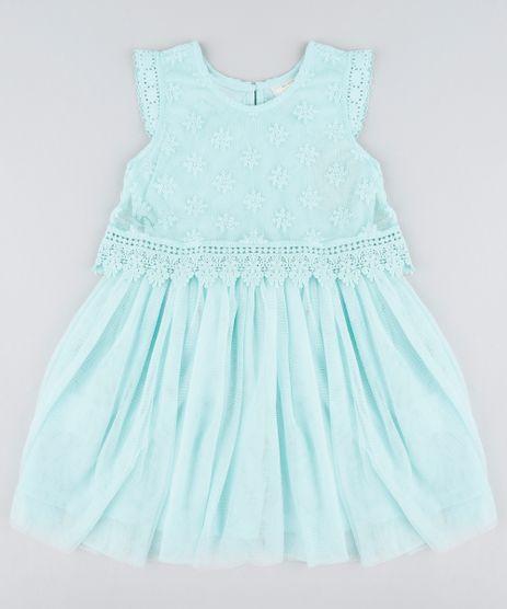 Vestido-Infantil-em-Tule-com-Renda-Sem-Manga-Verde-Claro-9203708-Verde_Claro_1