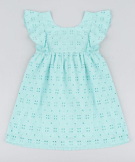 Vestido-Infantil-em-Laise-com-Babado-Sem-Manga-Verde-Claro-9182785-Verde_Claro_1