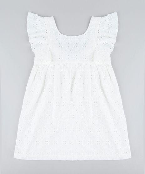 Vestido-Infantil-em-Laise-com-Babado-Sem-Manga-Off-White-9182784-Off_White_1