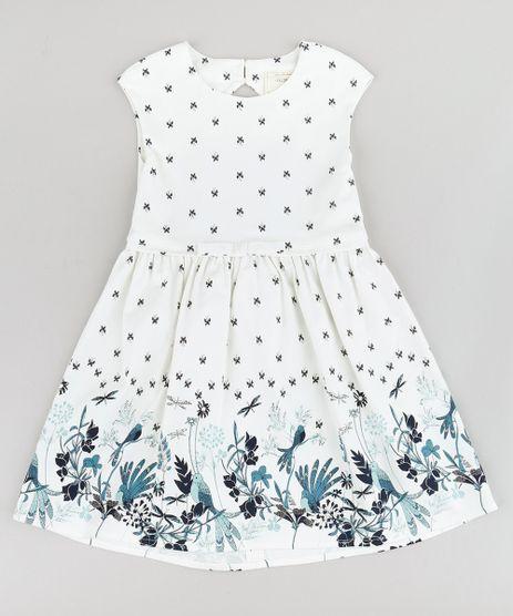 Vestido-Infantil-Estampado-de-Borboletas-com-Laco-e-Vazado-Sem-Manga-Off-White-9207230-Off_White_1