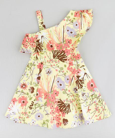Vestido-Infantil-Evase-Um-Ombro-So-Estampado-Floral-com-Babado-Amarelo-9207227-Amarelo_1