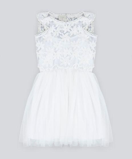 Vestido-Infantil-em-Tule-com-Sobreposicao-e-Bordado-Sem-Manga-Off-White-9182788-Off_White_1