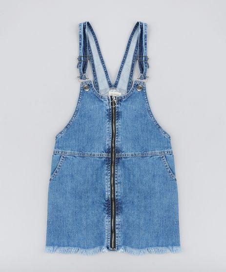Salopete-Jeans-com-Ziper-de-Argola-e-Barra-Desfiada-Azul-Escuro-9169518-Azul_Escuro_1