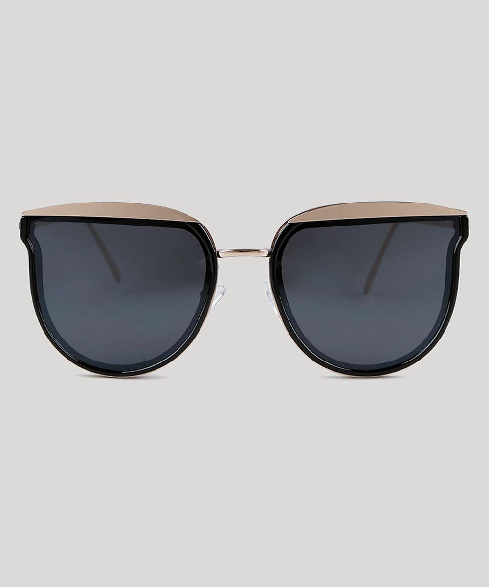 ... Oculos-de-Sol-Redondo-Feminino-Oneself-Dourado-9351282- 3a985d0db9