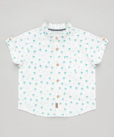 Camisa-Infantil-Estampada-de-Coqueiros-com-Bolso-em-Linho-Manga-Curta-Branca-9186901-Branco_1