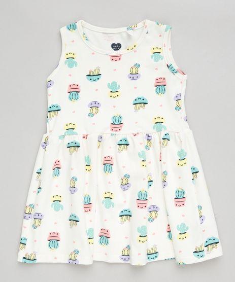 Vestido-Infantil-Estampado-de-Cactos-Sem-Manga-Decote-Redondo-Off-White-9300343-Off_White_1