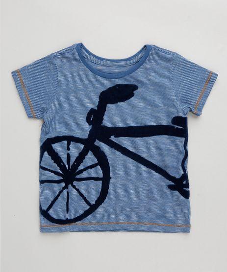 Camiseta-Infantil-Listrada-com-Bicicleta-Manga-Curta-Gola-Careca-Azul-9303321-Azul_1