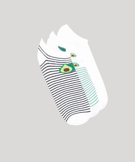 Kit-de-3-Meias-Femininas-Cano-Baixo-Estampadas-Abacate-Branca-9320325-Branco_1
