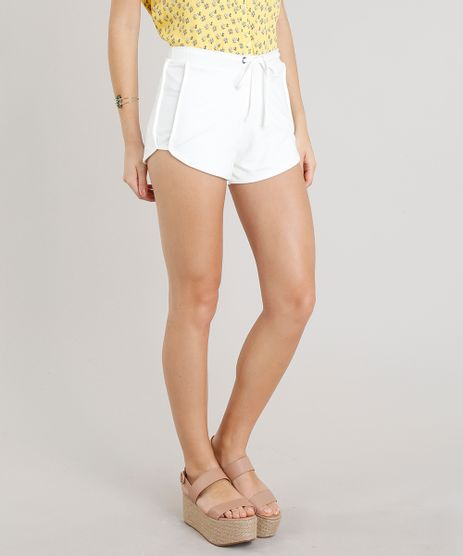 Short-Feminino-Running-Esportivo-Basico-em-Moletom-Off-White-8793882-Off_White_1