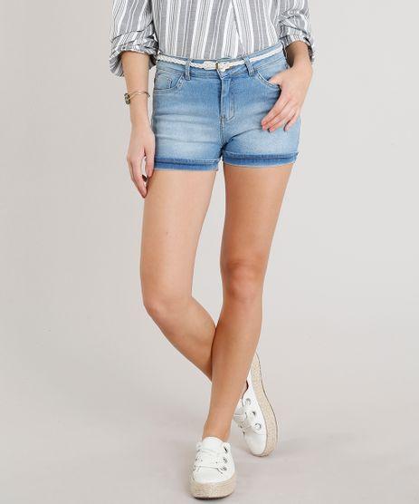 Short-Jeans-Feminino-Reto-com-Cinto-Trancado-Azul-Claro-9323265-Azul_Claro_1