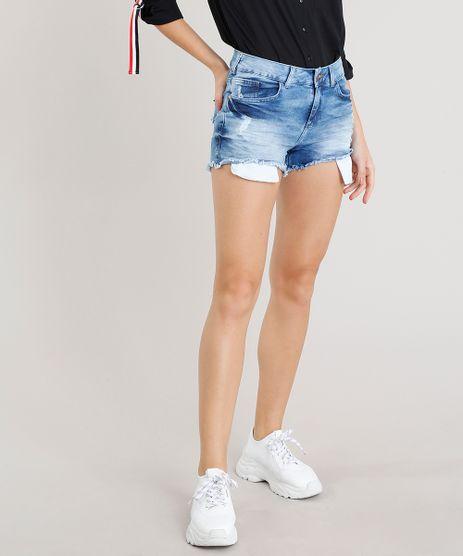Short-Jeans-Feminino-Reto-com-Rasgos-Azul-Medio-9300008-Azul_Medio_1