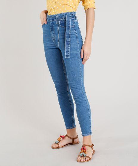Calca-Jeans-Feminina-Cigarrete-com-Faixa-Azul-Medio-9365624-Azul_Medio_1