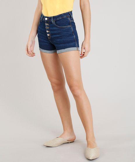 Short-Jeans-Feminino-Reto-com-Barra-Dobrada-Azul-Escuro-9365659-Azul_Escuro_1