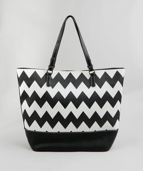 Bolsa-Feminina-Shopper-Missoni-Estampada-Chevron-Preta-9250136-Preto_1