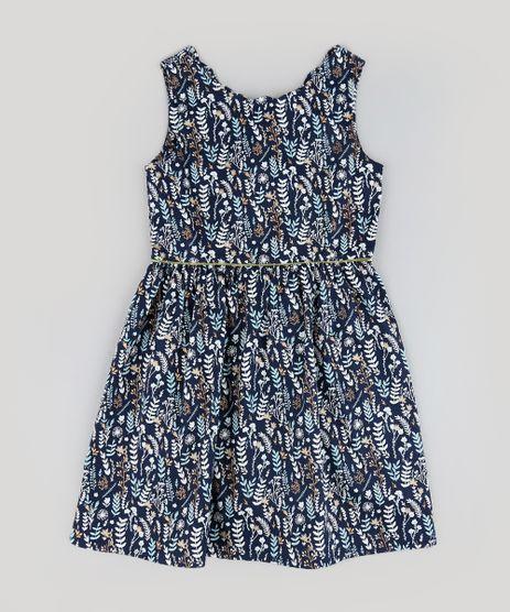 Vestido-Infantil-Estampado-de-Folhas-Sem-Manga-Azul-Marinho-9207223-Azul_Marinho_1