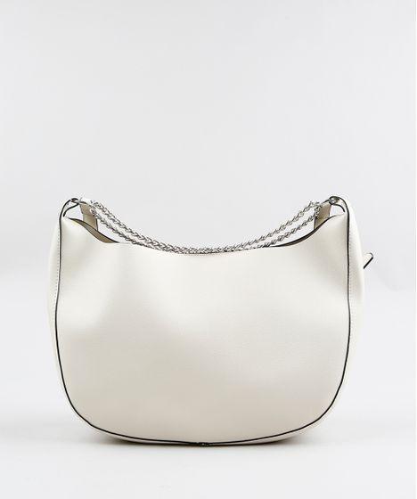 0e0a5d2ab Bolsa-Hobo-Feminina-com-Correntes-Off-White-9250671- ...