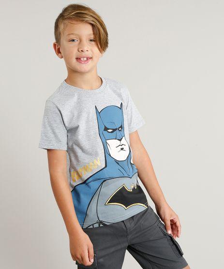 Camiseta-Infantil-Batman-Manga-Curta-Gola-Careca-Cinza-Mescla-9300760-Cinza_Mescla_1