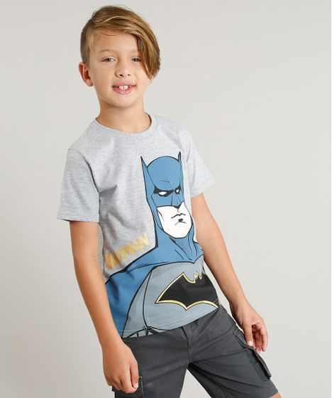 e39747436 Camiseta Infantil Batman Liga da Justiça Manga Curta Gola Careca ...