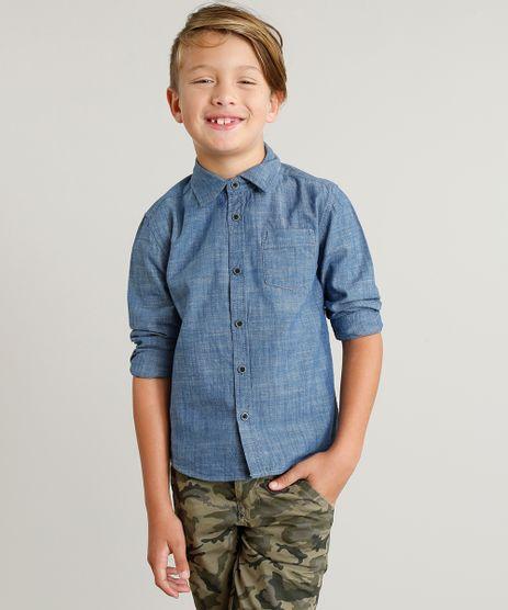 Camisa-Jeans-Infantil-com-Bolso-Manga-Longa-Azul-Medio-9188655-Azul_Medio_1